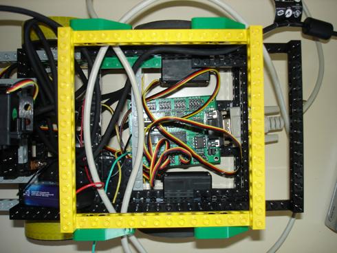 Intérieur du robot